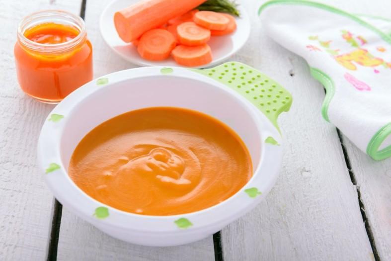 Пюре морковное для ребенка