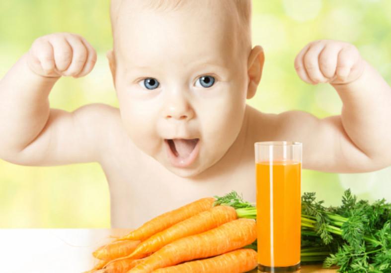 Ребенок и морковный сок