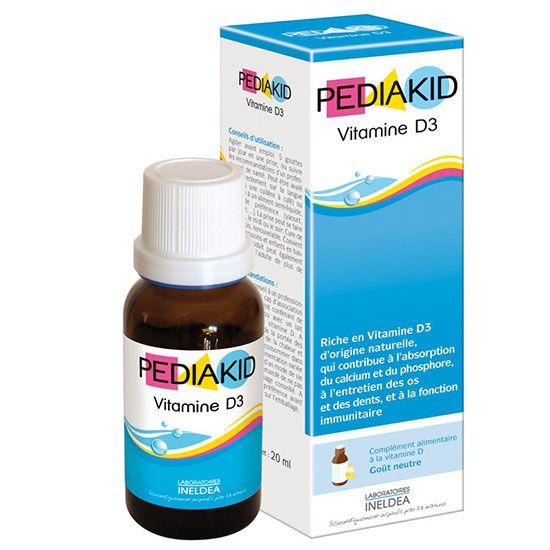 Laboratoires INELDEA – PEDIAKID D3 essentials