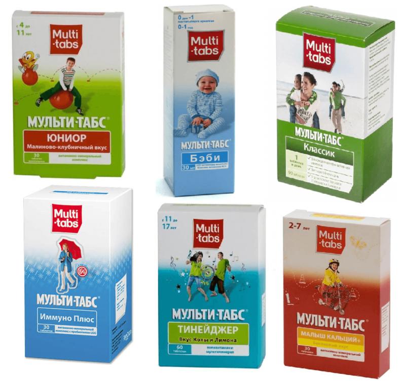 Мульти-табс витамины для детей подборка