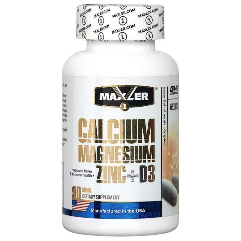 Maxler Calcium Zinc Magnesium+D3